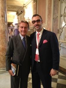 Il sottoscritto ed il Presidente della Ferrari Montezemolo a Firenze